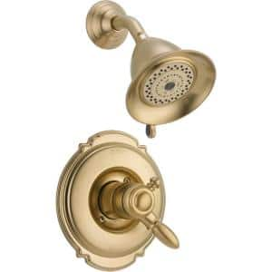 Victorian 1-Handle Shower Only Faucet Trim Kit in Champagne Bronze (Valve Not Included)