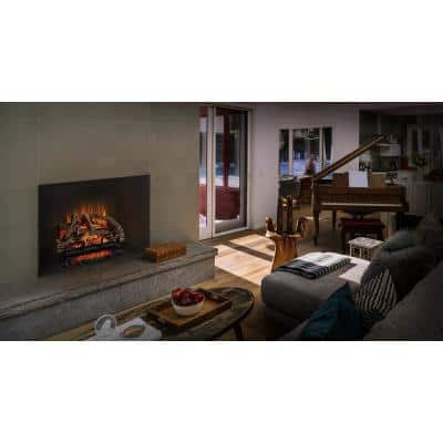 27 in. Hand-Painted Electric Log Set with Remote Control