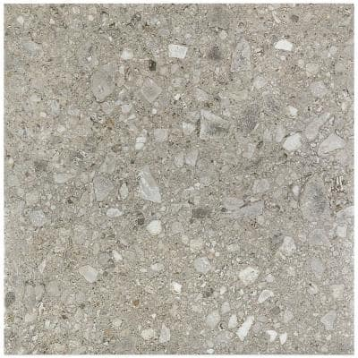 Rizzo Gray 24 in. x 24 in. x 9mm Semi Polished Porcelain Floor and Wall Tile (3 pieces / 11.62 sq. ft. / box)