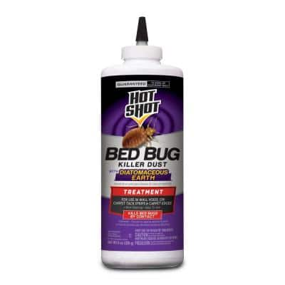 Bed Bug Killer 8 oz Dust Treatment With Diatomaceous Earth