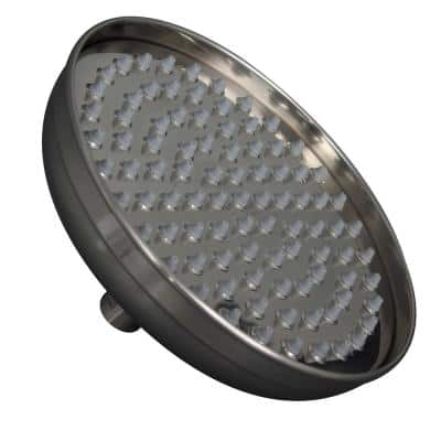 Seneca 1-Spray Patterns with 1.8 GPM 12 in. Wall Mount Rain Fixed Shower Head in Brushed Nickel