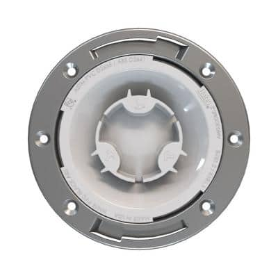 Fast Set 3 in. PVC Hub Spigot Toilet Flange with Test Cap and Stainless Steel Ring