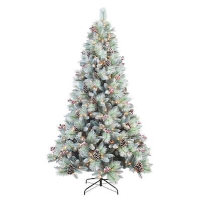 7 ft. Glitter Mixed Pine Tree