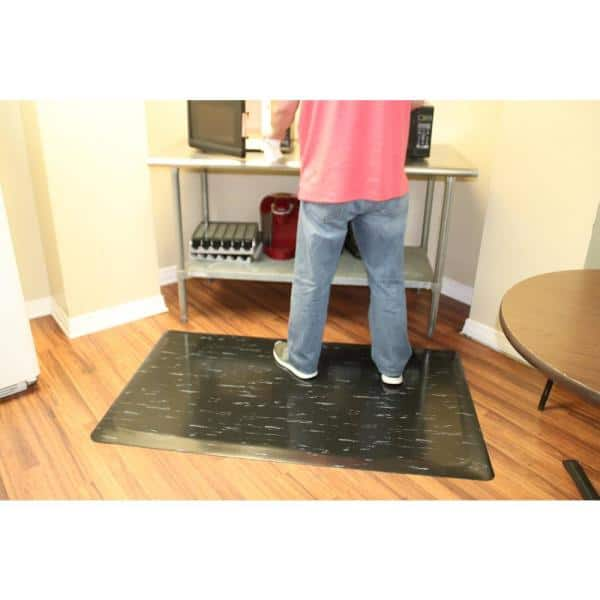 Rhino Anti Fatigue Mats Marbleized Tile Top Anti Fatigue Mat 4 Ft X 8 Ft X 1 2 In Black White Commercial Mat Tt R48b Wx8 The Home Depot