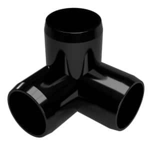 1-1/2 in. Furniture Grade PVC 3-Way Elbow in Black (4-Pack)