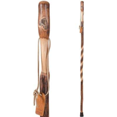 55 in. Twisted Hickory Walking Stick