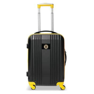 NHL Boston Bruins 21 in. Hardcase 2-Tone Luggage Carry-On Spinner Suitcase