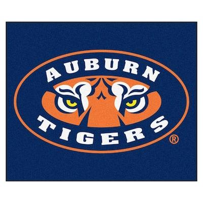 NCAA Auburn University Blue 5 ft. x 6 ft. Indoor/Outdoor Tailgater Area Rug