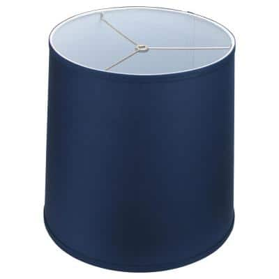 Fenchel Shades 13 in. Top Diameter x 15 in. Bottom Diameter x 15 in. Slant,  Empire Lamp Shade - Linen Navy Blue