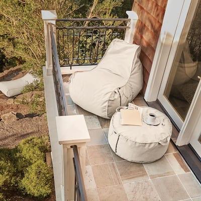 Montlake Heather Henna Outdoor Frameless Furniture Ottoman