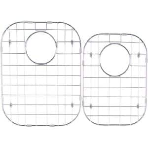Stainless Steel Sink Grid - Fits 60/40 Double Bowl Sink 31-1/2x20-1/2 (Set of 2)