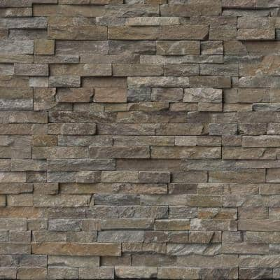 Canyon Creek Ledger Panel 6 in. x 24 in. Natural Quartzite Wall Tile (4 sq. ft./Case)