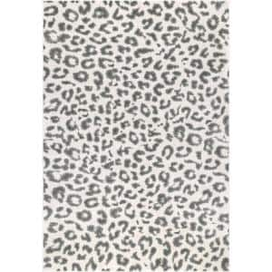 Sebastian Leopard Print Gray 10 ft. x 13 ft. Area Rug