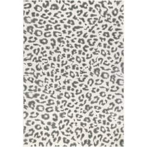 Sebastian Leopard Print Gray 10 ft. x 14 ft. Area Rug