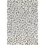 Sebastian Leopard Print Gray 12 ft. x 15 ft. Area Rug