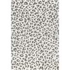 Sebastian Leopard Print Gray 2 ft. x 3 ft. Area Rug