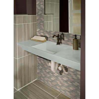 Ellipse Gris 12 in. x 12 in. x 8mm Glass Stone Mesh-Mounted Mosaic Tile (10 sq. ft./Case)
