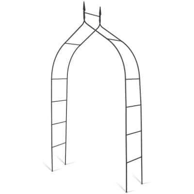 101 in. H x 15 in. W Steel Gothic Rose Arch