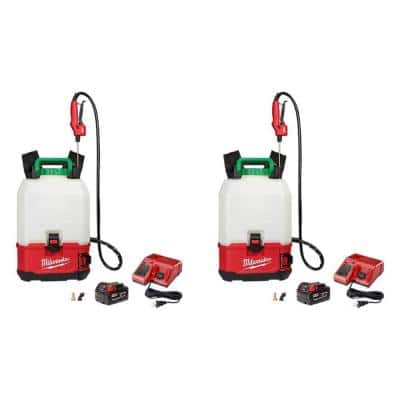 M18 18-Volt 4 Gal. Lithium-Ion Cordless Switch Tank Backpack Pesticide Sprayer Kit w/ (2)Batteries & (2)Chargers(2-Tool)