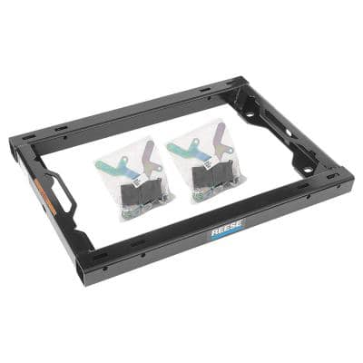 Class IV Fifth Wheel Trailer Hitch Adapter Kit with Handles for Under Bed Rail