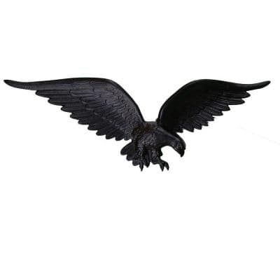 24 in. Black Wall Eagle