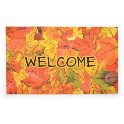 Crumb Rubber Welcome to Fall 18 in. x 30 in. Recycled Rubber Door Mat