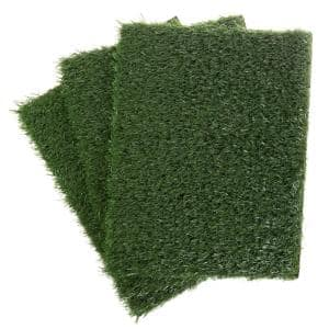 Artificial Grass Replacement Mats for 3-Layer Potty Trainer System - Turf Pee Pads for Small Dogs or Puppies - Set of 3