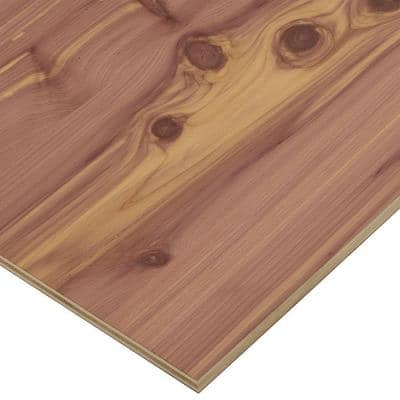 1/2 in. x 2 ft. x 2 ft. PureBond Aromatic Cedar Plywood Project Panel (Free Custom Cut Available)