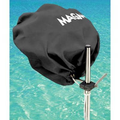 Marine Kettle Grill Original Size Cover and Tote Bag, Color: Jet Black