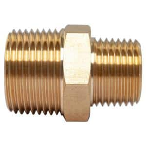 3/4 in. x 1/2 in. MIP Brass Pipe Hex Reducing Nipple Fitting (5-Pack)