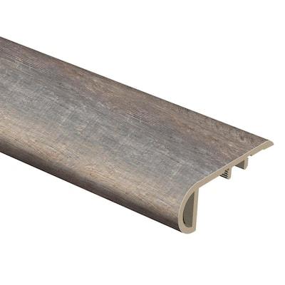 Tekoa Oak 1 in. Thick x 2-1/2 in. Wide x 94 in. Length Vinyl Stair Nose Molding