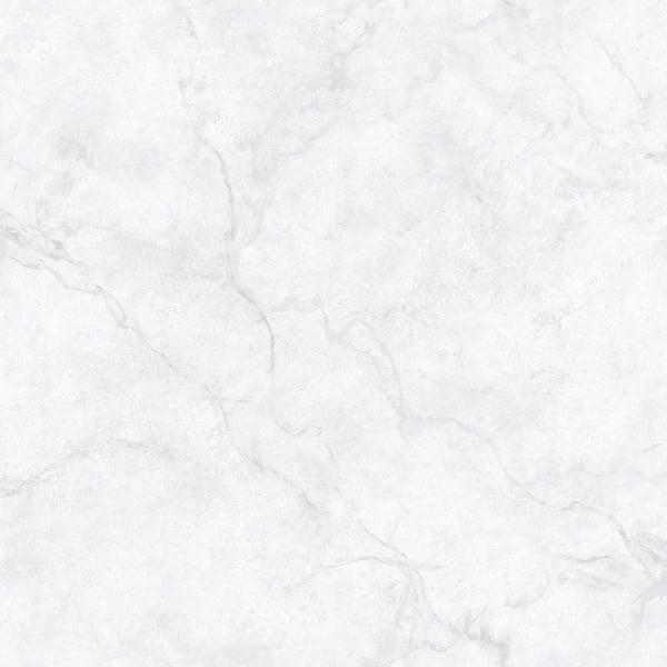 Nuwallpaper Carrara Marble Vinyl Peel Stick Wallpaper Roll Covers 30 75 Sq Ft Nu2090 The Home Depot