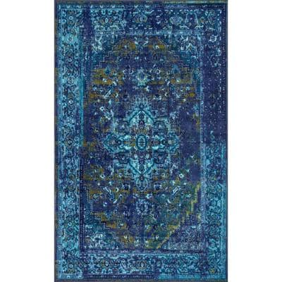 Reiko Vintage Persian Blue 3 ft. x 5 ft. Area Rug