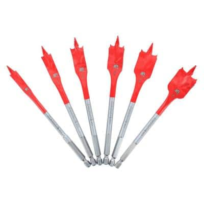 SPEEDemon High Carbon Steel Spade Bit Set (6-Piece)