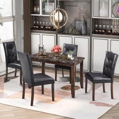 Rectangle Marble Dining Room Sets Kitchen Dining Room Furniture The Home Depot