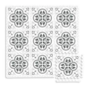 Hamal Grey 34.2 in. x 68.4 in. EVA Foam Interlocking Floor Tiles (Set of 2 - 44 Pieces - 16.25 sq. ft.)