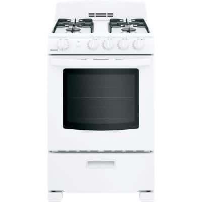 24 in. 2.9 cu. ft. Gas Range Oven in White