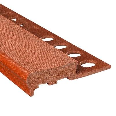 Novopeldano MaxiKenya Terracotta 3/8 in. x 98-1/2 in. Composite Maxi Stair Nosing Trim