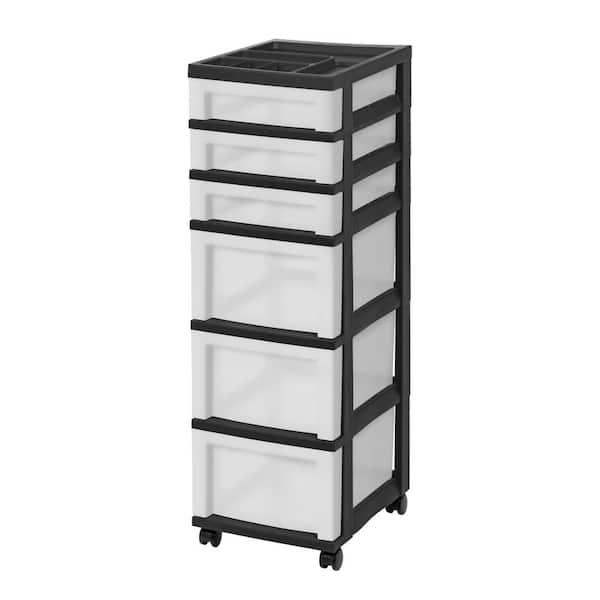 Iris 14 25 In D X 12 05 W 37 75, Black Storage Drawers On Wheels