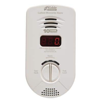 10 Year Worry-Free Plug-In Carbon Monoxide Detector with Battery Backup, Digital Display, and Voice Alarm