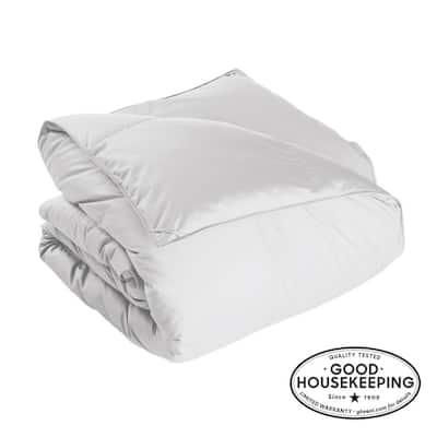 Alberta Light Warmth White Twin Euro Down Comforter