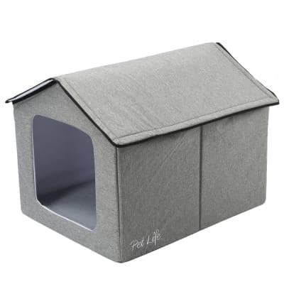 Grey Hush Puppy Electronic Heating and Cooling Smart Collapsible Pet House - Small