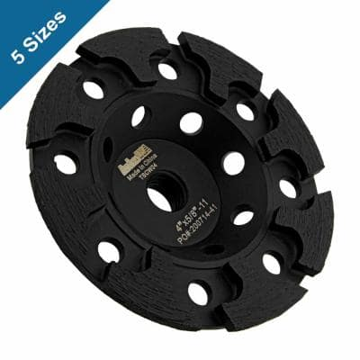 5/8 in. -11 Thread T-Segmented Diamond Grinding Cup Wheel 6 in. for Concrete Grinding