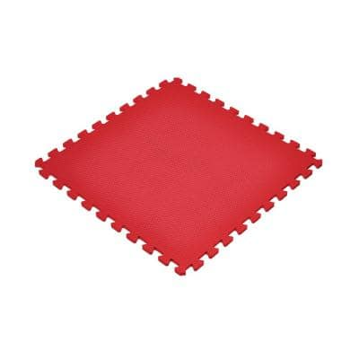 Red 24 in. x 24 in. EVA Foam Non-Toxic Solid Color Interlocking Tiles (96 sq. ft. - 24 tiles)