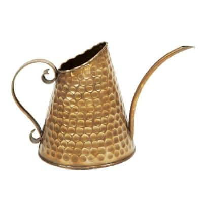 Dainty Hammered Watering Can, 12 in. L Copper Finish