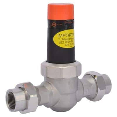 3/4 in. Stainless Steel Double Union NPT Pressure Regulating Valve