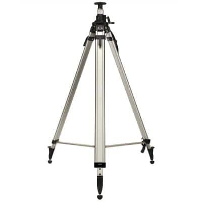 157 in. Heavy-Duty Aluminum Laser Level Extra Tall Quick Clamp Elevating Tripod with Shoulder Strap