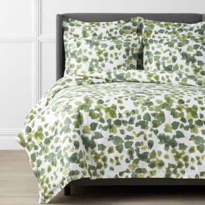 Legends Hotel Greenery Cotton and TENCEL Lyocell Multicolored Sateen Pillowcase (Set of 2)