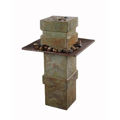 Pilaster Slate Floor Fountain