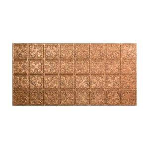 Traditional #10 2 ft. x 4 ft. Glue Up Vinyl Ceiling Tile in Cracked Copper (40 sq. ft.)